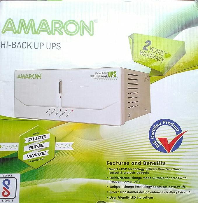 Amaron 880Va Hi Back Up Pure Sine Wave Ups (White)