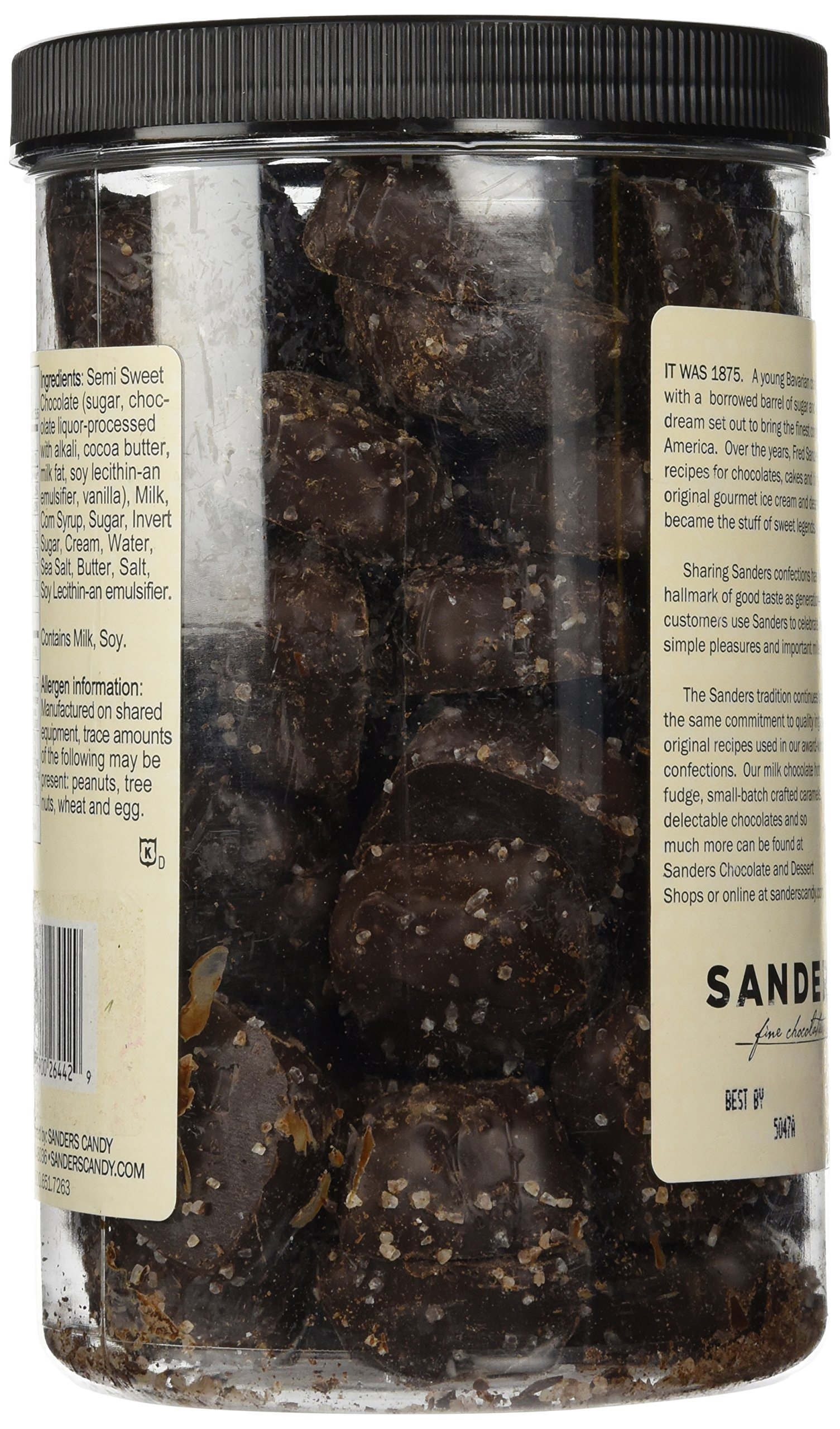Sanders Dark Chocolate Sea Salt Caramels - 36 ounces (2.25 pounds) by Sanders® (Image #5)