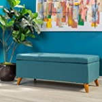 Etoney Mid Century Modern Fabric Storage Ottoman