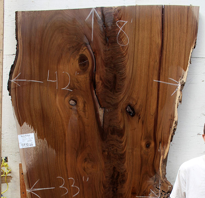 Live Edge Black American Walnut Rustic Table Top Natural Raw ...