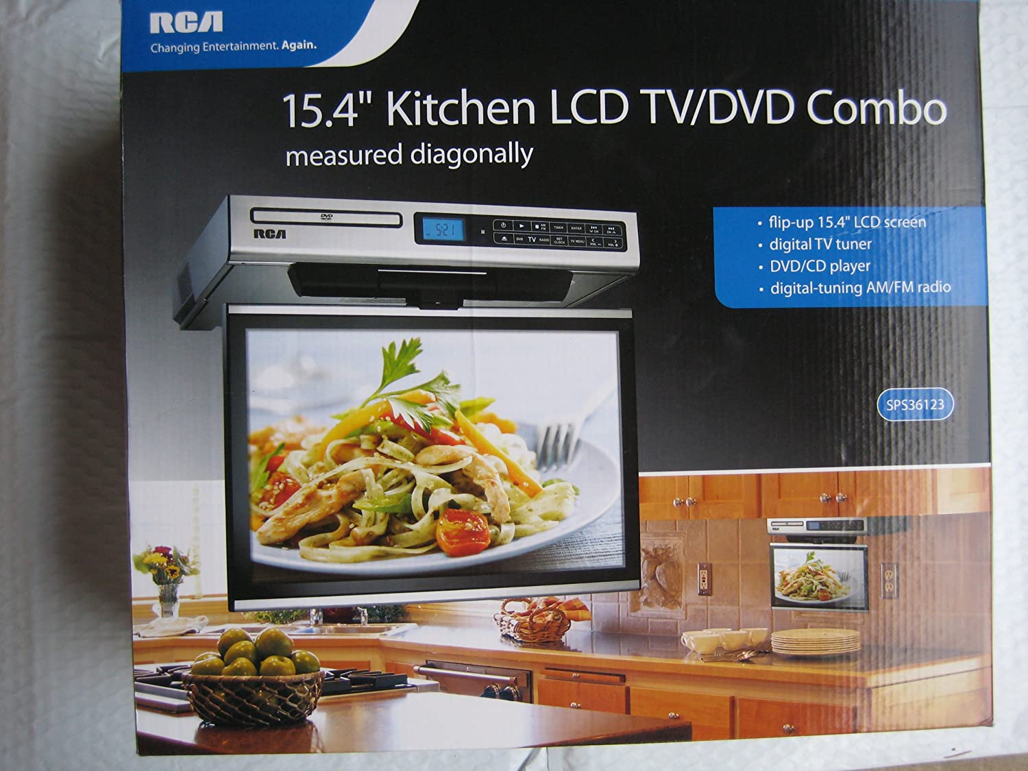 Rca Kitchen Lcd Tv Dvd Combo 15 4 Under Cabinet Electronics