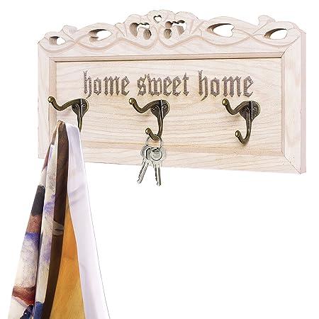 MyGift Vintage y Color blanco lavado madera Home Sweet Home ...