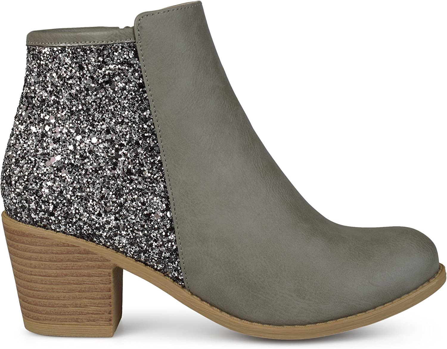 Brinley Co Womens Laser Dot Buckle Booties Ankle Boots New
