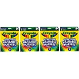 Crayola Broad Point Washable Markers, Classic Pack of 4