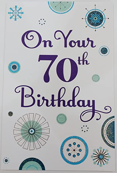 Many Happy Wishes On Your 70th Birthday Greeting Card