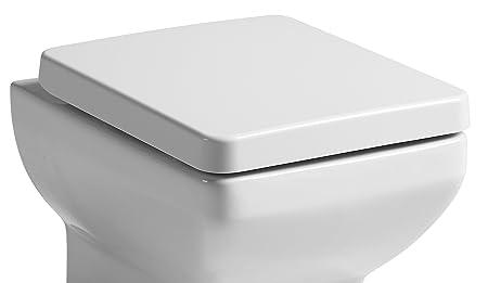 self closing toilet seat lid. Tavistock Replacement Q60 Square Soft Close Toilet Seat Lid Chrome Fixing  Hinges