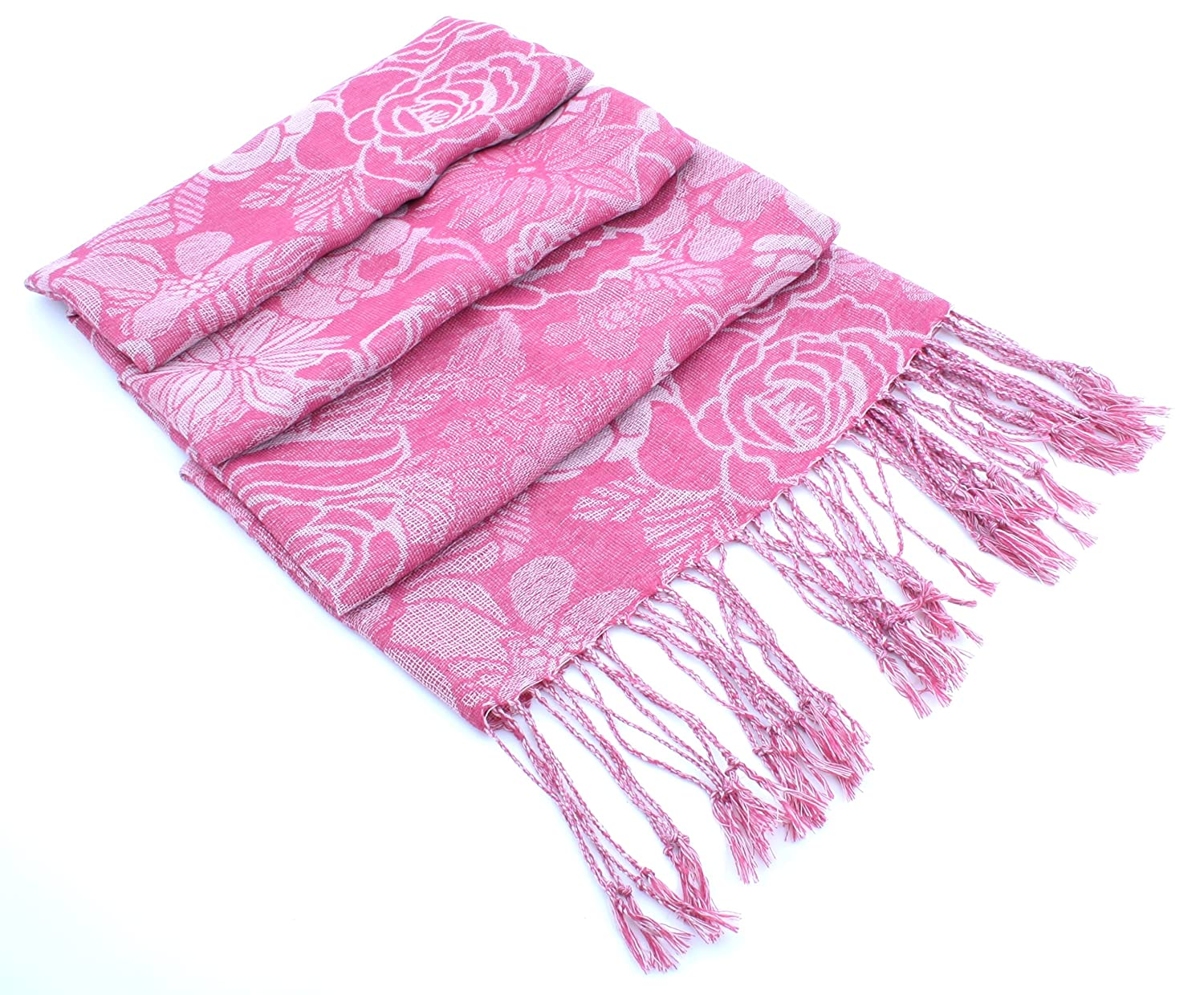 RJM Ladies Knitted Scarf with Metallic Thread