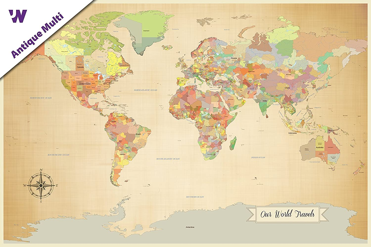 Amazon sale push pin world map world map with pins paper amazon sale push pin world map world map with pins paper anniversary world travel map with pins 24 x 36 multiple color options ready to ship gumiabroncs Image collections