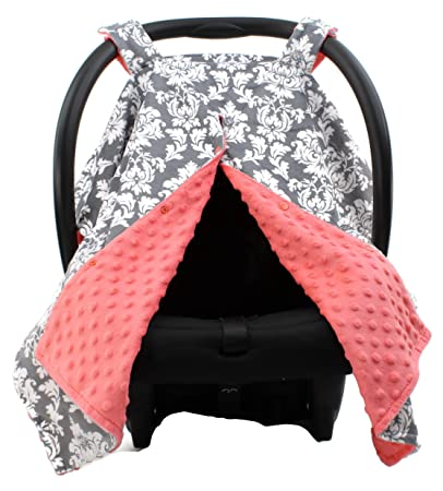 Amazon Com Dear Baby Gear Deluxe Car Seat Canopy Custom Minky