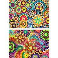 2 Pack DIY 5D Diamond Painting Kit Full Drill Painting Diamond Sticker Stitch Painting Sets Rhinestone Embroidery Set Cross Stitch Arts Craft For Living Room Decoration,Mandala Kaleidoscope(40X30CM/16