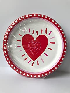 Valentines Day Plates Set of 32 Valentine\u0027s Day Large Size Paper Plates (8.75 inches) & Amazon.com: Lady Jayne 16 ct Heart Shaped Dessert Paper Plates ...