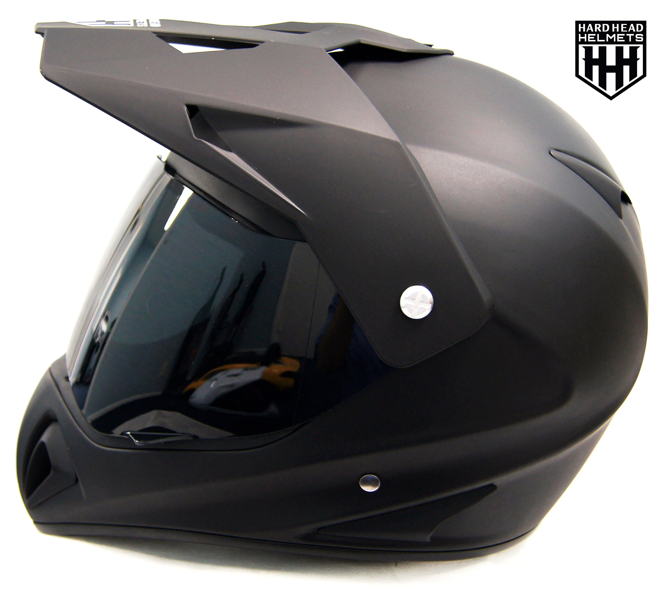SmartDealsNow - HHH DOT ADULT Helmet for Dirtbike ATV Motocross MX Offroad Motorcyle Street bike Snowmobile HELMET with VISOR (Medium, Matte Black)