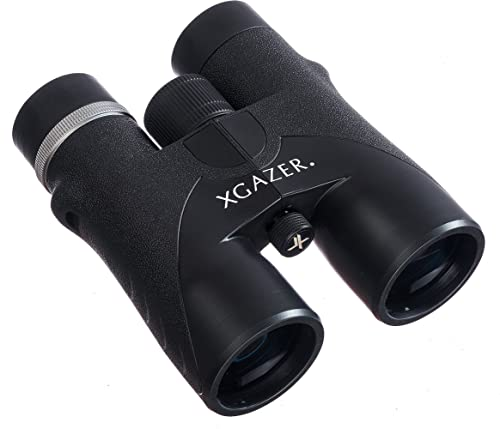 Xgazer Optics HD 10X42 Professional Binoculars – High Power Travel, Hunting, Fishing, Safari, Bird Watching Binoculars – Long Range, Eye-Relief Binoculars w Neck Strap, Cleaning Cloth Carrying Case