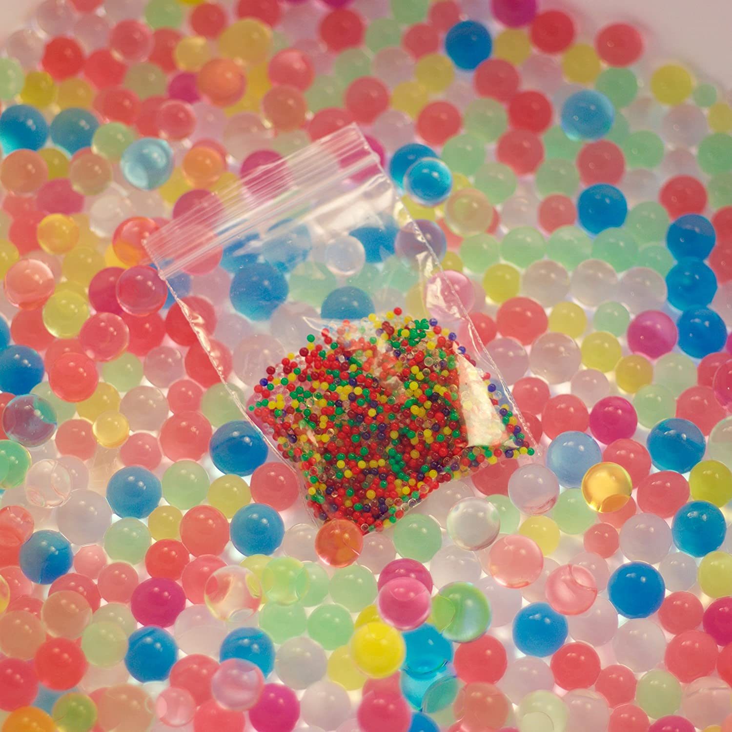 1000 Water Beads, Orbeez Replacement, for Play, Sensory, Science etc FunSociety