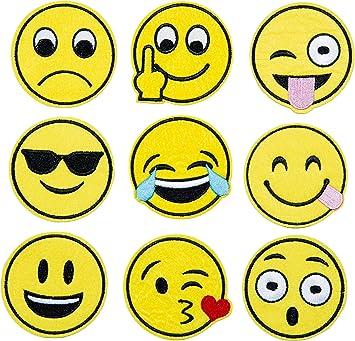 Amazon.com: Emoji bordado Applique Decoración Bricolaje ...
