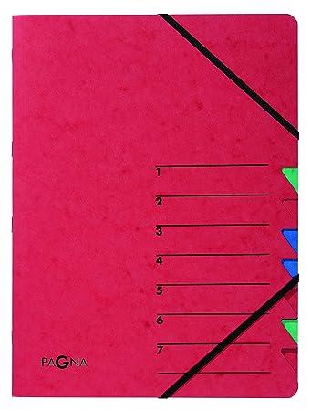 Pagna Ordnungsmappe DIN A4 Karton 12 Fächer grün Ordnen Ablegen Bürowaren Mappen