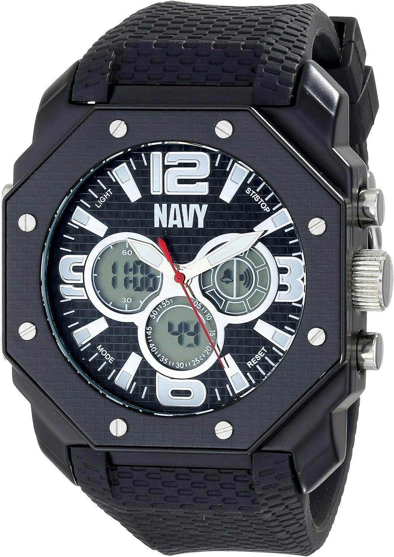 Wrist Armor Men s 37400007 C28 Analog-Digital Display Quartz Watch with Black Silicone Strap