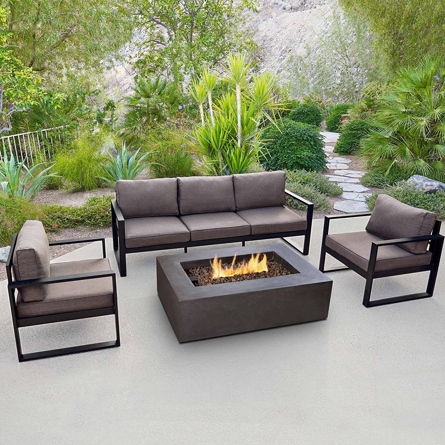 - Amazon.com : Real Flame 9621 Baltic 3 Seat Sofa : Garden & Outdoor