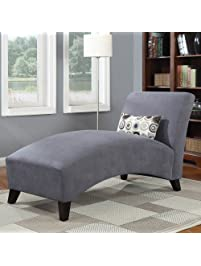 chaise lounge chair living room furniture 100 polyester microfiber upholstered over wood