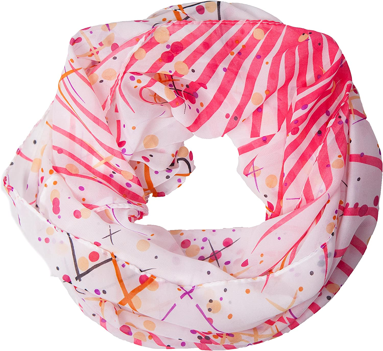 foulard tondo sciarpa a tubo raffinata con motivo di come accessorio perfetto per lestate Un regalo ideale MANUMAR sciarpa loop donna sciarpa infinita scialle