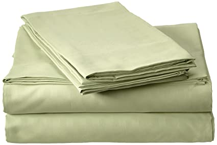 Millenium Linen Queen Size Bed Sheet Set   Sage   1600 Series 4 Piece   Deep