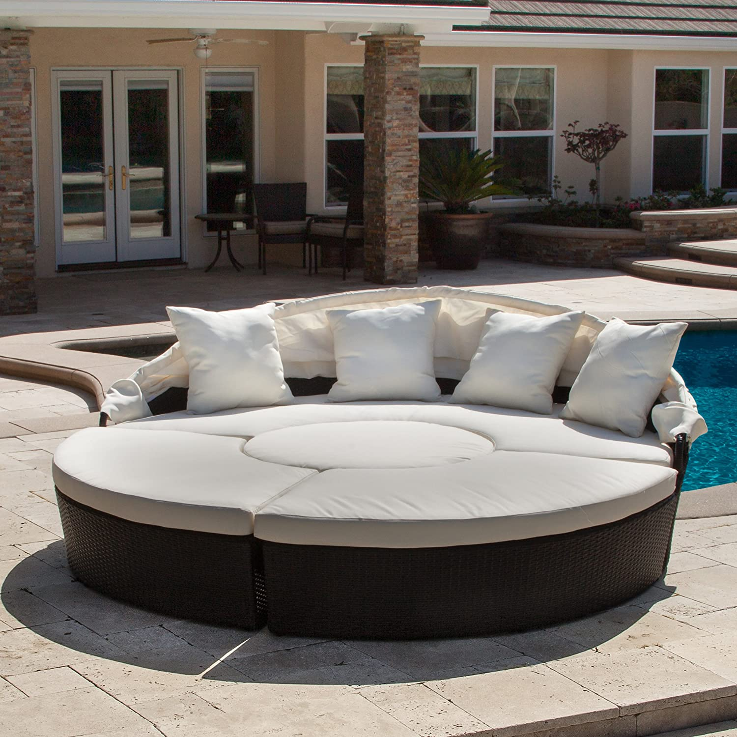 Amazon Bellagio 4 piece Outdoor Daybed Sectional Set Patio