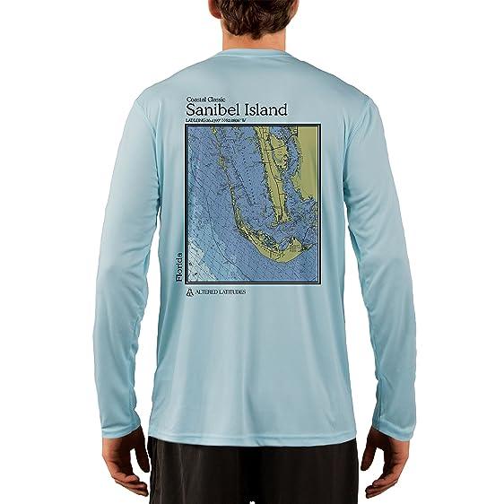 4e7495bd3 Altered Latitudes Sanibel Island Chart Men's UPF 50+ UV/Sun Protection  Performance T-