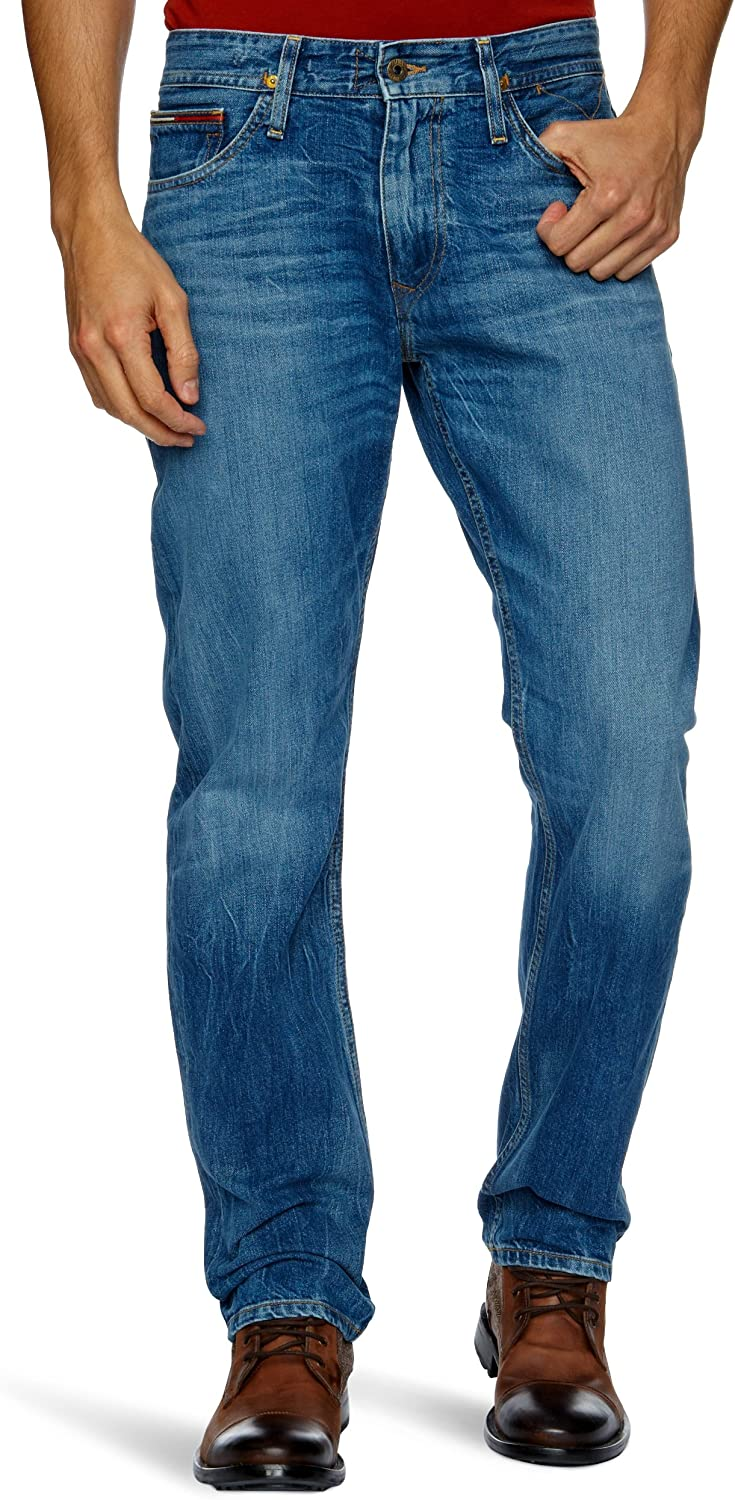 Tommy Jeans Mens Ryan Straight Jeans,