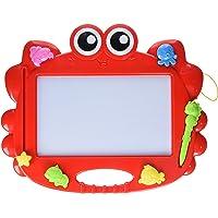 AUBY 澳贝 小蟹艺术涂鸦板 双面磁力画板 4个彩色动物印章+2支画笔 464405DS