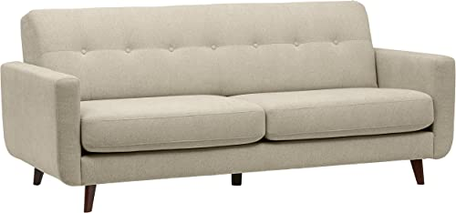 Amazon Brand Rivet Sloane Mid-Century Modern Sofa with Tufted Back, 79.9 W, Shell