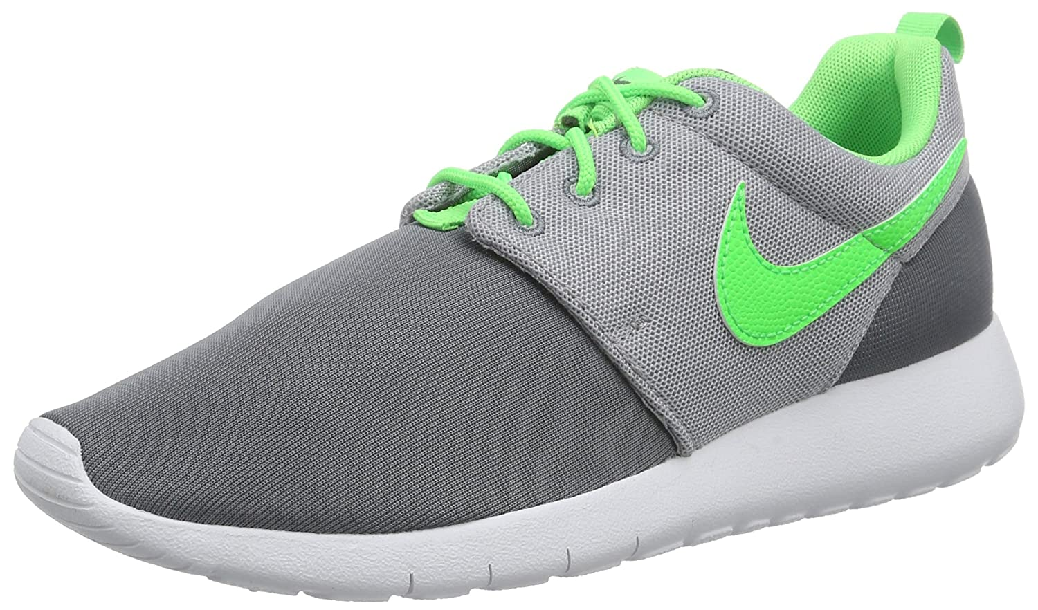Nike Roshe One (GS) Zapatillas de Running, Niños 35.5 EU|Gris / Blanco (Cl Grey / Grn Strk-wlf Gry-white)