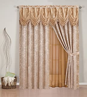 Amazon Elegant Home Window Embroidery Curtain Drapes All In