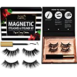 Magnetic Eyeliner & Eyelashes Kit (2 PAIRS) | Magnetic Lash Set With Super Hold Magnetic Liner (4Ml Bottle) | Magnetic Liner & Lashes Pack | Superior Hold Magnetic Eyeliner & Eyelashes, No Adhesive Required | Reusable and Durable Magnetic Lashes | Cruelty-Free Magnetic Eyeliner & Lashes, No Glue (2 Pairs of Lashes) (Day To Evening - 2 Pairs)