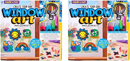 Kit Includes 12 Pre-Printed Suncatchers Assorted Colors New Version DIY Acetate Sheet Paint Your Own Suncatchers Made By Me Create Your Own Window Art by Horizon Group USA