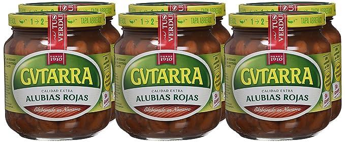 Gvtarra Alubia Roja Cocida Legumbre - Paquete de 6 x 400 gr - Total: 2400 gr: Amazon.es: Alimentación y bebidas