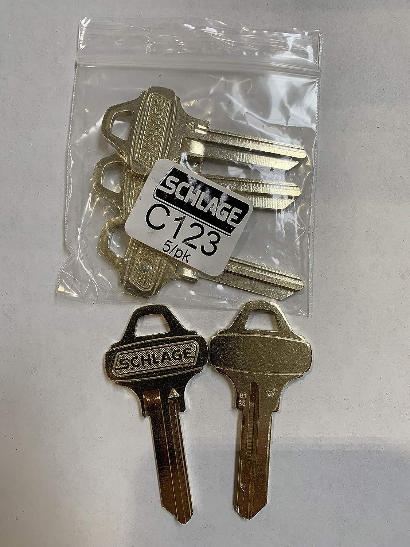 Schlage Everest C123 Key Blanks-5 Pack