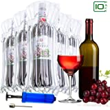 Wine Wrap Protector | Wrap Sleeves Cushioning Bubble Pack 10 Pack | Glass Travel Airline Transport Bags | Air Filled Column Sleeve