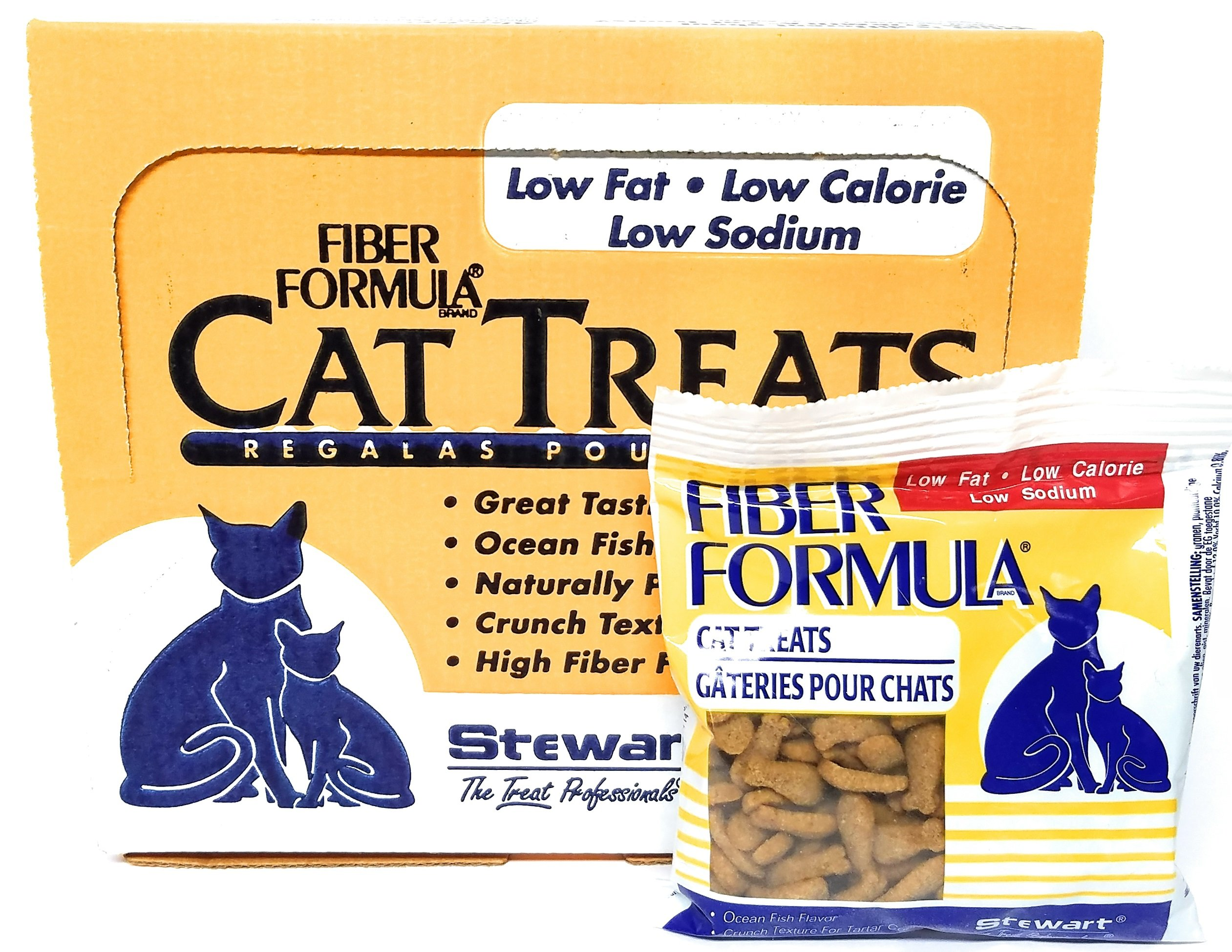 Stewart Fiber Formula Cat Treats, Low Sodium, Low Fat, High Fiber, 2.1 oz Pouch by Stewart