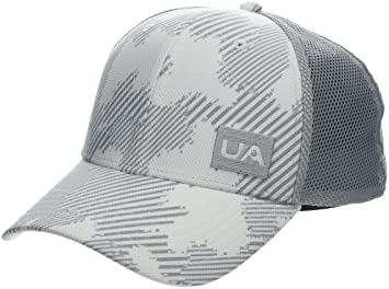 Under Armour Mens Blitzing Trucker 3.0 Gorra, Hombre, Blanco (White/Mod Gray