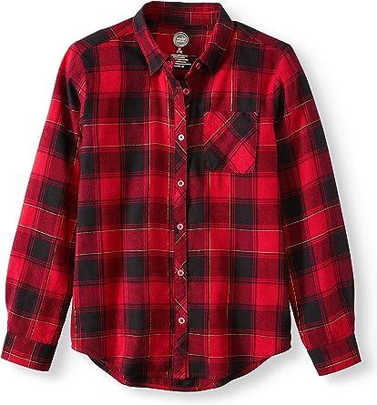 Acircle Little Big Boys Girls Long Sleeve Button Down Plaid Flannel Shirt