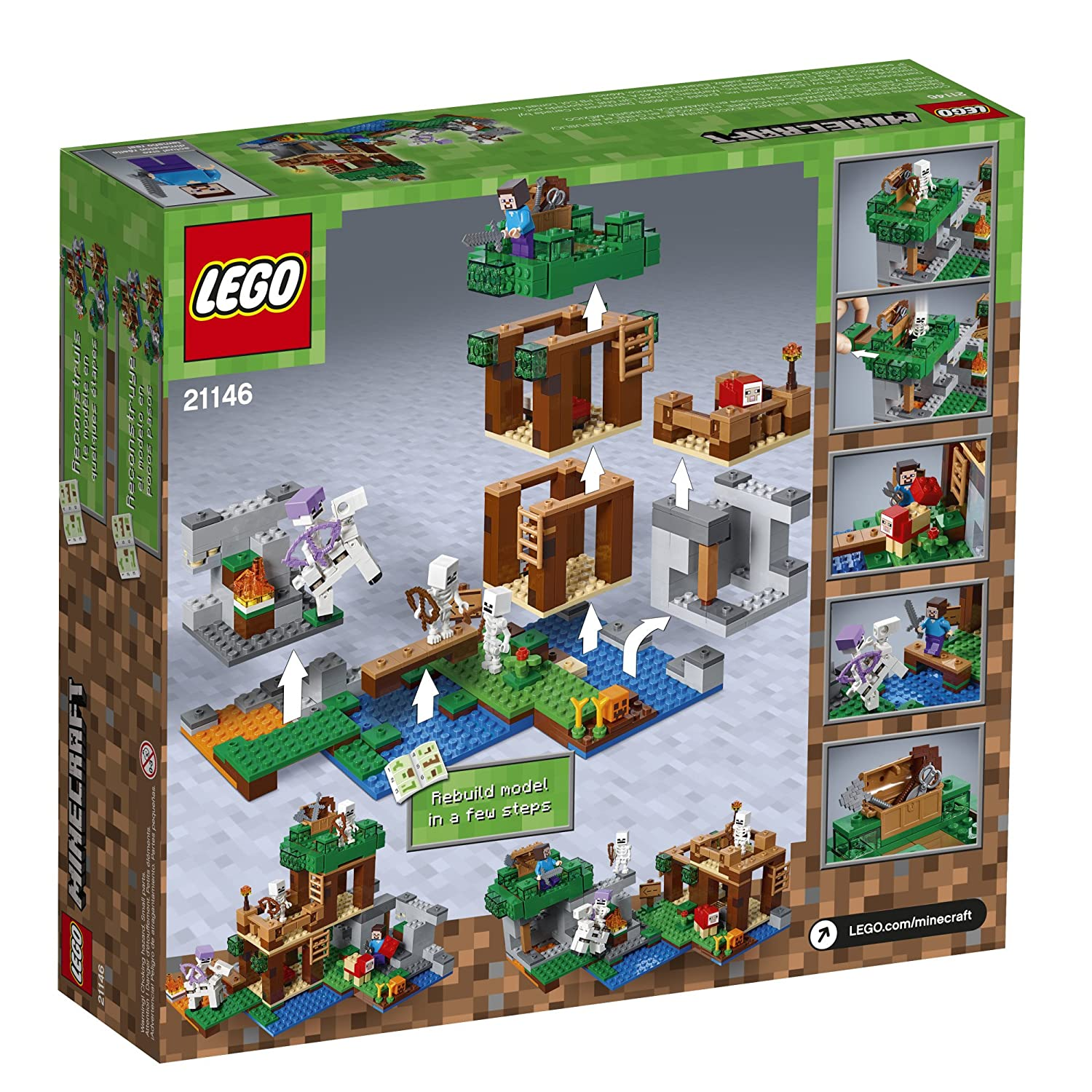 Model Building The Best The Skeleton Arena Set Bricks Compatible With Legoing Minecraft 21146 Model Building Blocks Boys Birthday Gift Children Toys Toys & Hobbies
