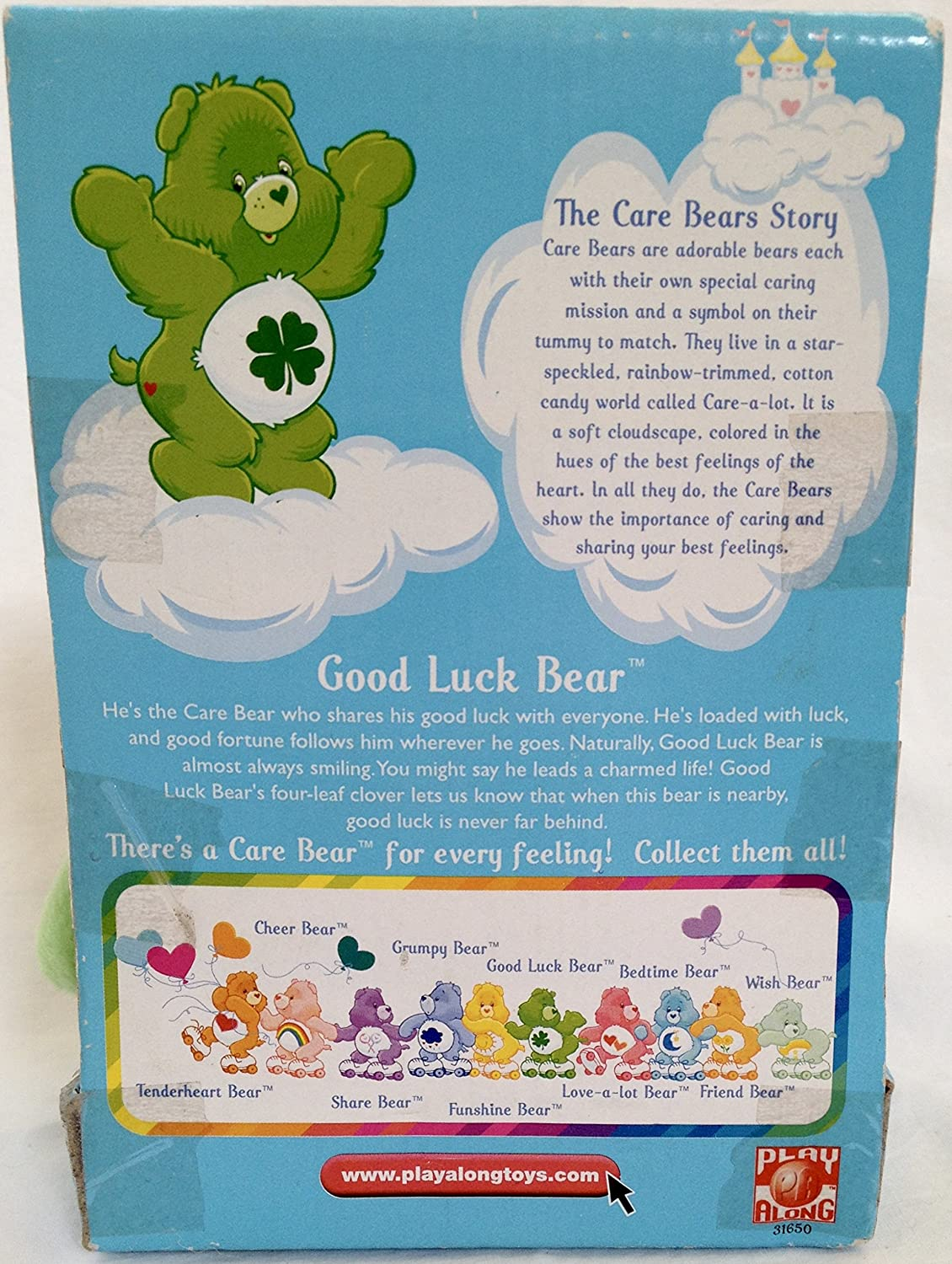 Amazon Good Luck Green Care Bear Bean Bag Toy Size 8 Inches Toys Games