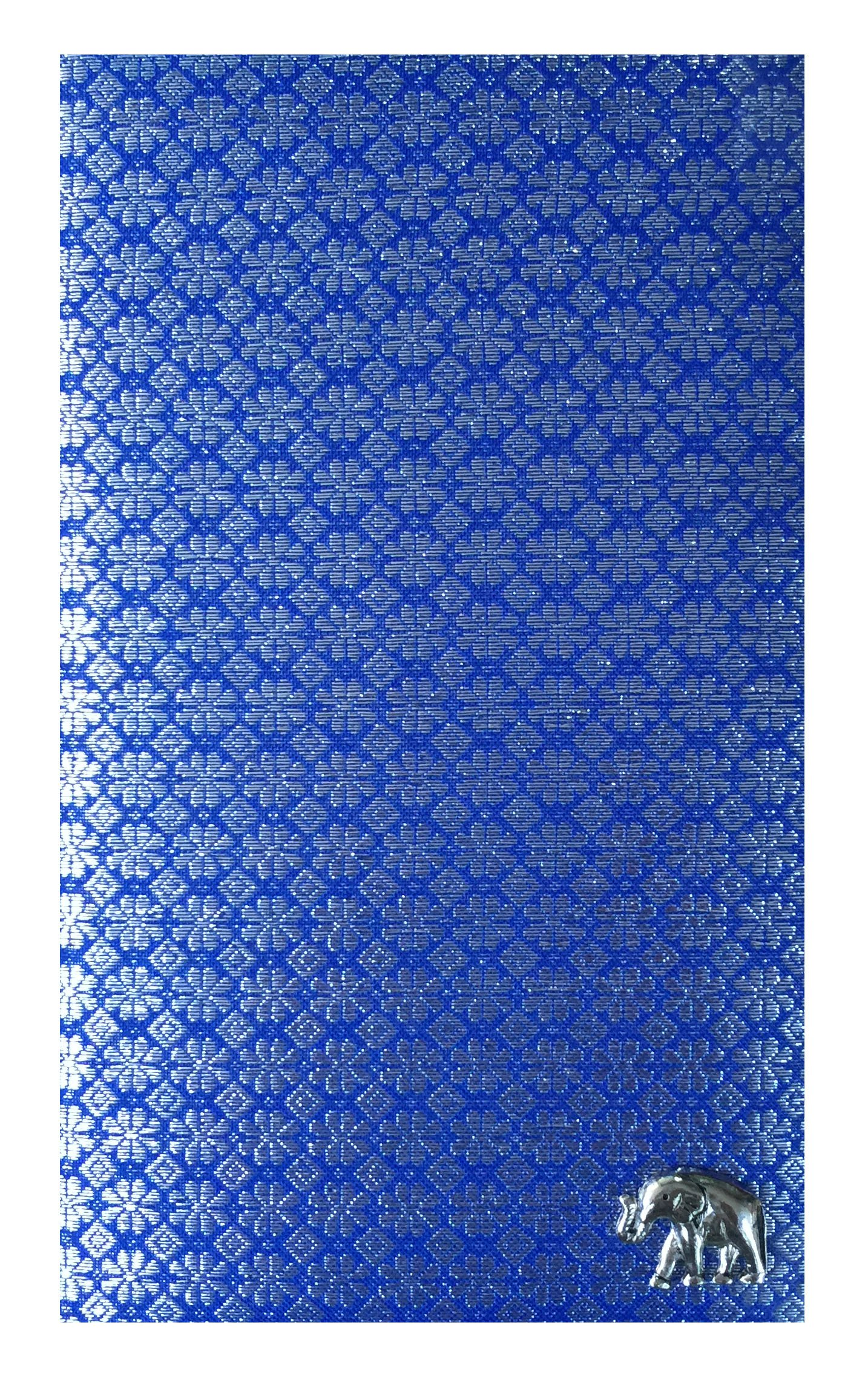 Blue Thai Fabric Check Presenter, Check Book Holder for Restaurant, Check Pad Holder, Waitstaff Organizer, Server Book for Waitress with Money Pocket, Waiters Wallet. U