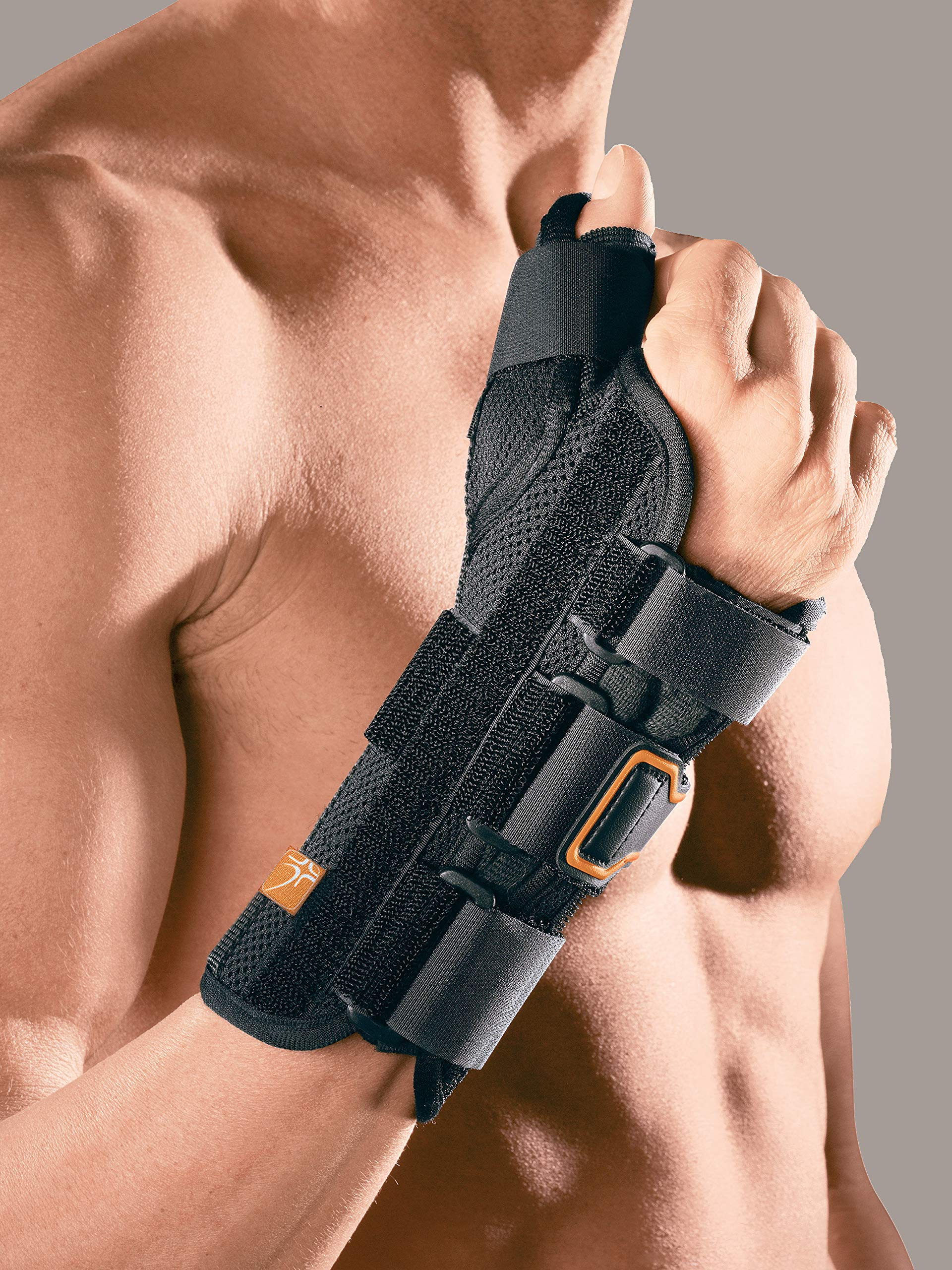 RO + Ten mp1117r S Opening Wrist Support with Thumb Grip, Black