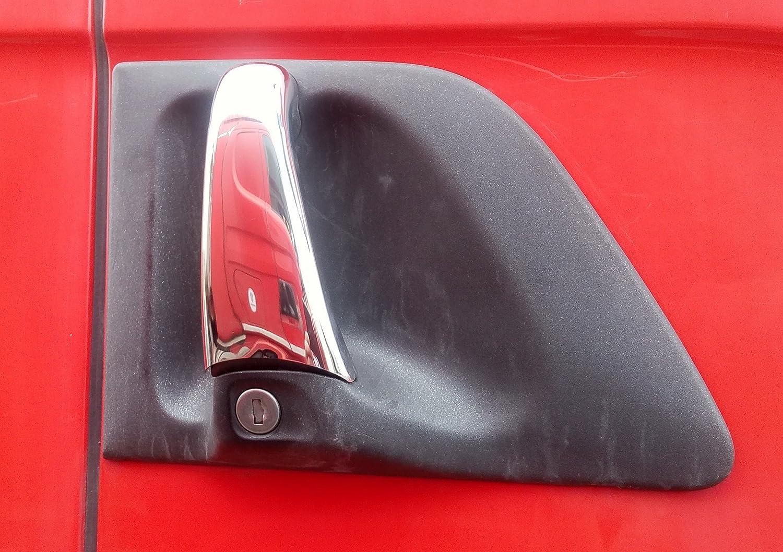 Juego de 2 piezas de cubiertas para puerta de coche para Scania R P G L Series Truck Trucker Cabin Accesorios de decoración hechos de acero inoxidable pulido espejo
