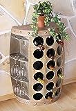 DanDiBo Porte-bouteilles Casier à vin 1486 Tonneau à vin 72cm Desserte Armoire Tonneau en bois Bar à vin, Bar