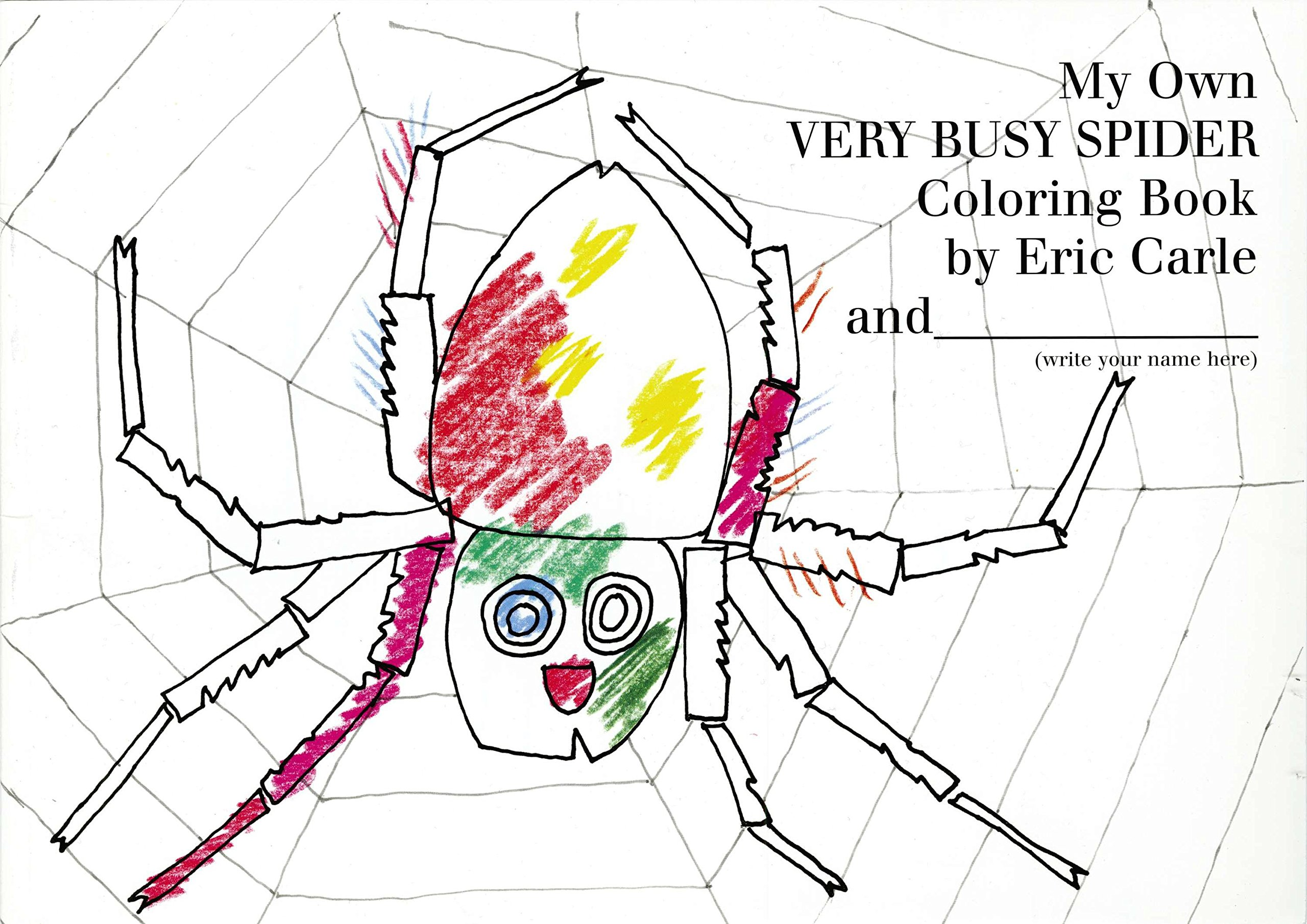 Very Busy Spider Coloring Book