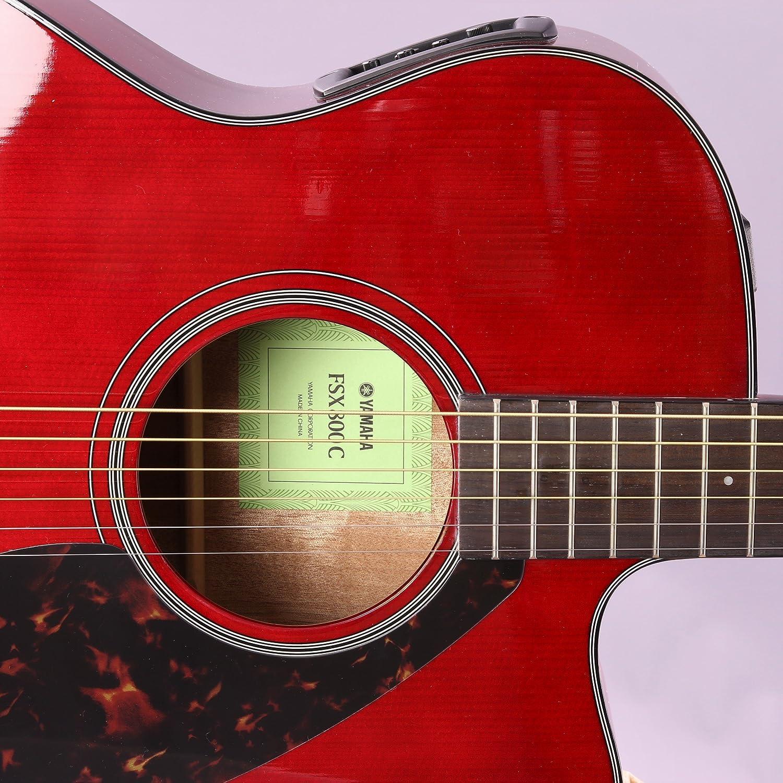 Yamaha fsx800 C pequeño cuerpo Cutaway Guitarra Electroacústica guitarra, parte superior sólida, con Legado accesorio Bundle, muchas opciones: Amazon.es: ...