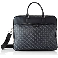 Guess Dan Logo Briefcase, Bags Hombre, Black, One Size