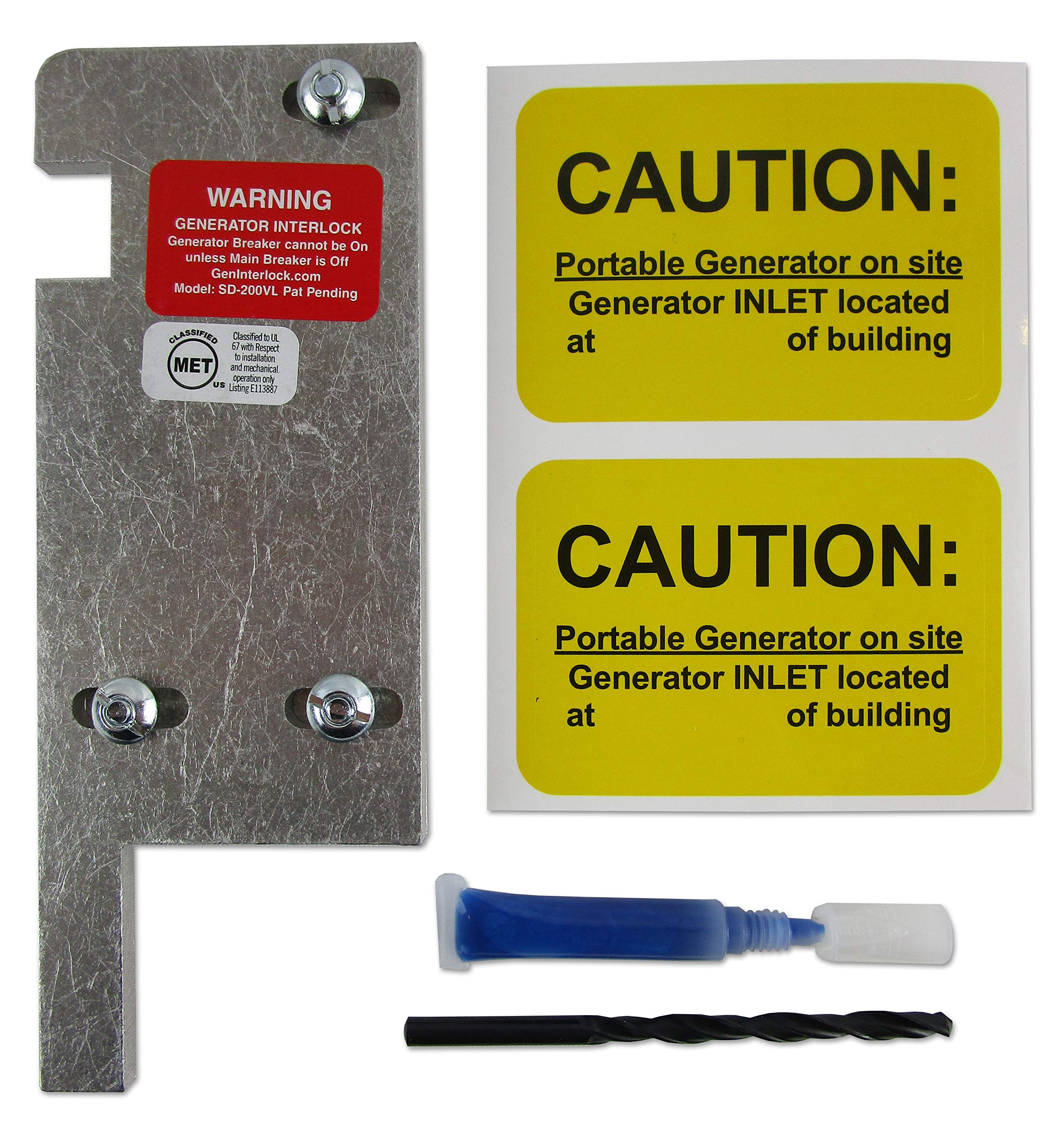 SD-3 Generator Interlock Kit for Square D panel